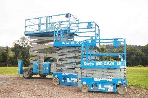 Full Throttle Scissor Lift Rental Home Banner
